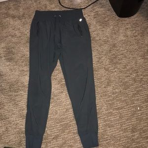 Stretchy synthetic joggers